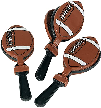 Football Clappers (12 pieces) Party Accessories, Homecoming, Cheer, Birthday Supplies