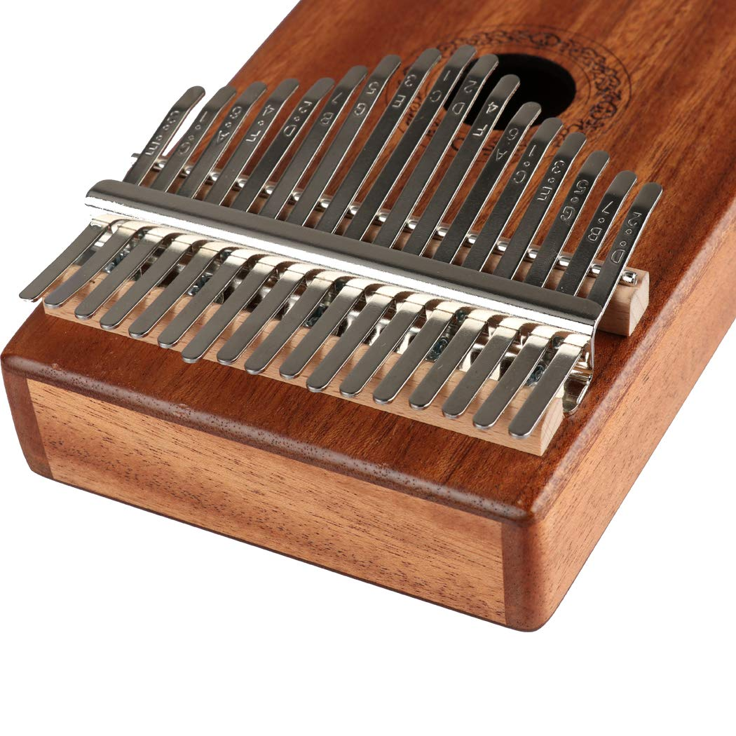 Hidear Thumb Piano Kalimba 17 keys Finger Piano Mbira 17 Tone Musical Toys with Instruction and Tune Hammer, Portable Thumb Piano Mahogany Body Ore Metal Tines by Hidear (Image #3)