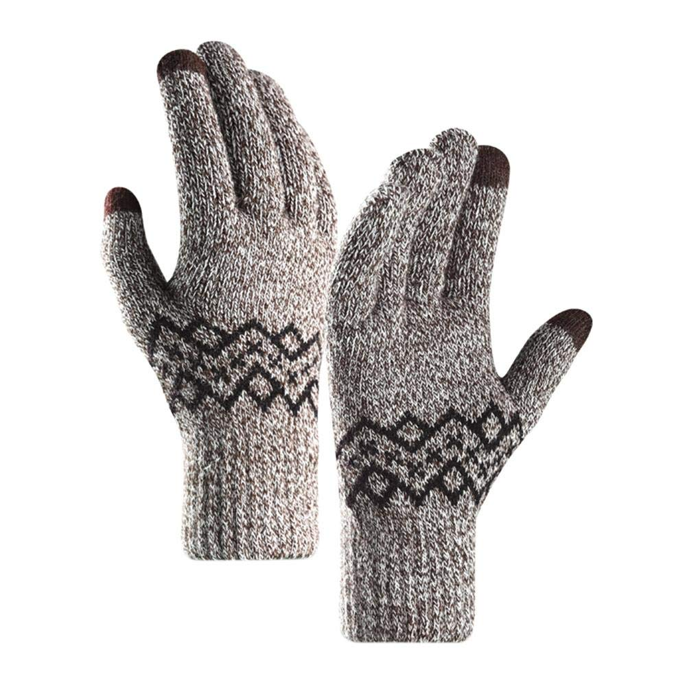 Winter Touchscreen Acrylic Knitted Thick Warm Gloves for women men