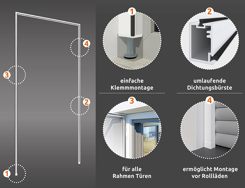 Windhager Insektenschutz Montagerahmen Premium bohrfrei ...