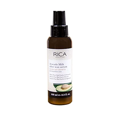 ab8de5830e3 Amazon.com : RICA Avocado Milk After Wax Serum - Slows Re-Growth - Made in  Italy - 3.3 FL OZ : Hair Removal Wax : Beauty