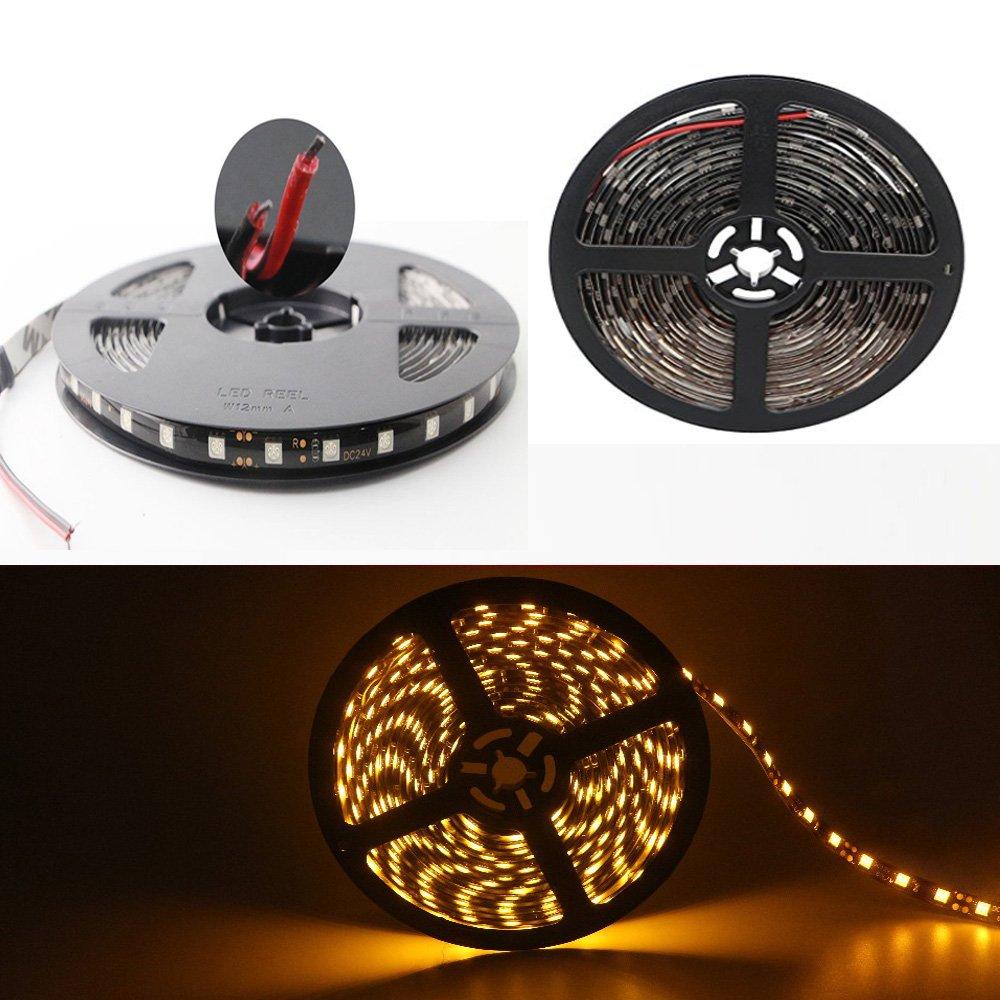 con 300/luces LED 5050/y cinta adhesiva Tira flexible de luces LED Grandview de 24/V DC de 5/metros