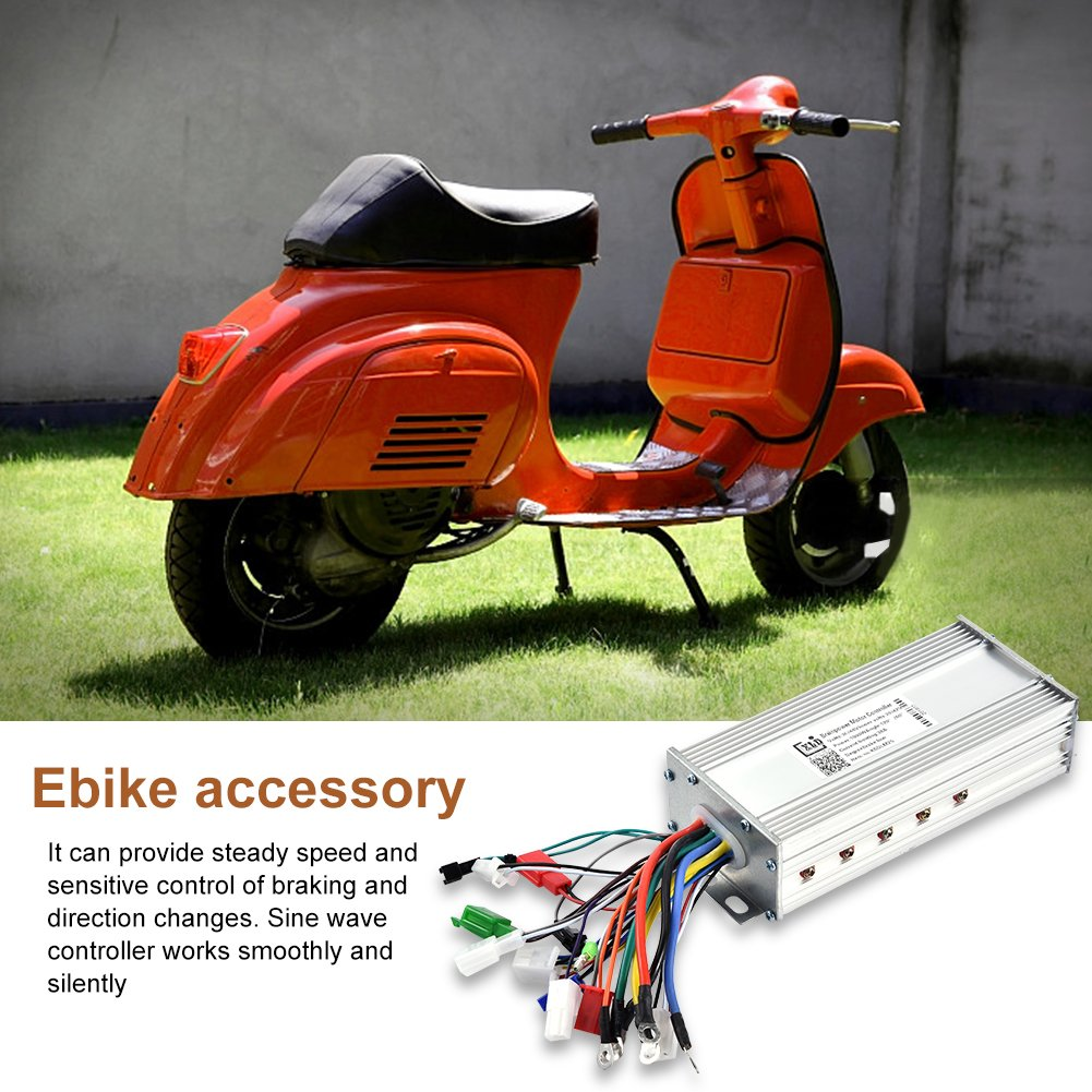 Vgeby Electric Speed Controller 36v 48v 1000w Brushless Motor Sine Vespa Vo Wiring Diagram Wave For Bicycle Scooter Home Kitchen
