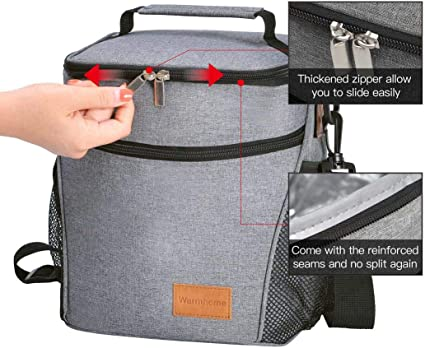 Lunch Bags for Women Insulated Lunch Bag Adult Lunch Bags Women Lunch Box Jeopace Black White Strip Small