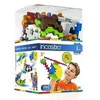 INCASTRO 014 - Gioco di Costruzione Cube, L 60 pz, Multicolore