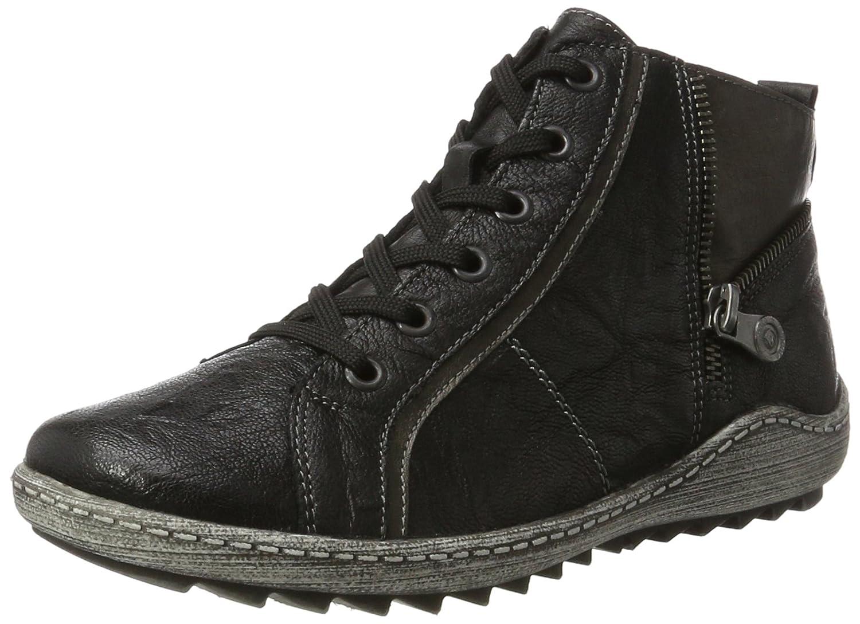 Remonte Women Ankle Boots black, (schwarz/altsilber/sc) R1472-01 B01EHMRK18 37 M EU|Black/Silver