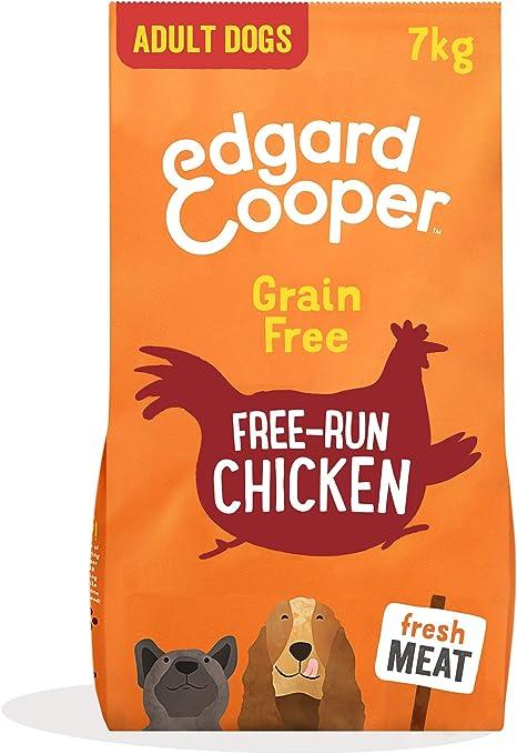 Edgard & Cooper Pienso para Perros Adultos Sin Cereales Comida Seca Natural 7kg Pollo Fresco de Granja, Alimentación Sana Sabrosa y equilibrada, ...