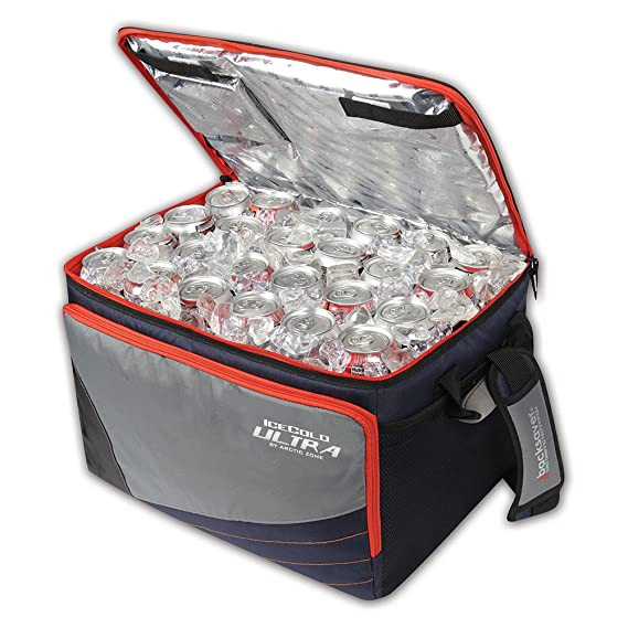 Arctic Zone 50 Puede Plegable Mesa Cooler, Naranja: Amazon.es ...