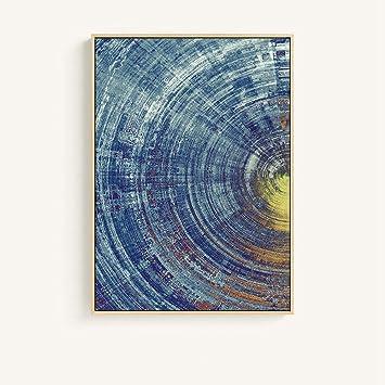 XIAOXINYUAN Pintura En Tela Decorativa Imágenes Abstractas Concepto Minimalista Moderno Rectángulo Vertical Óleo 60X80Cm Sin Marco: Amazon.es: Hogar