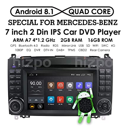 Android 8.1 Quad Core Car in Dash DVD Player GPS Navigation for Mercedes-Benz W169