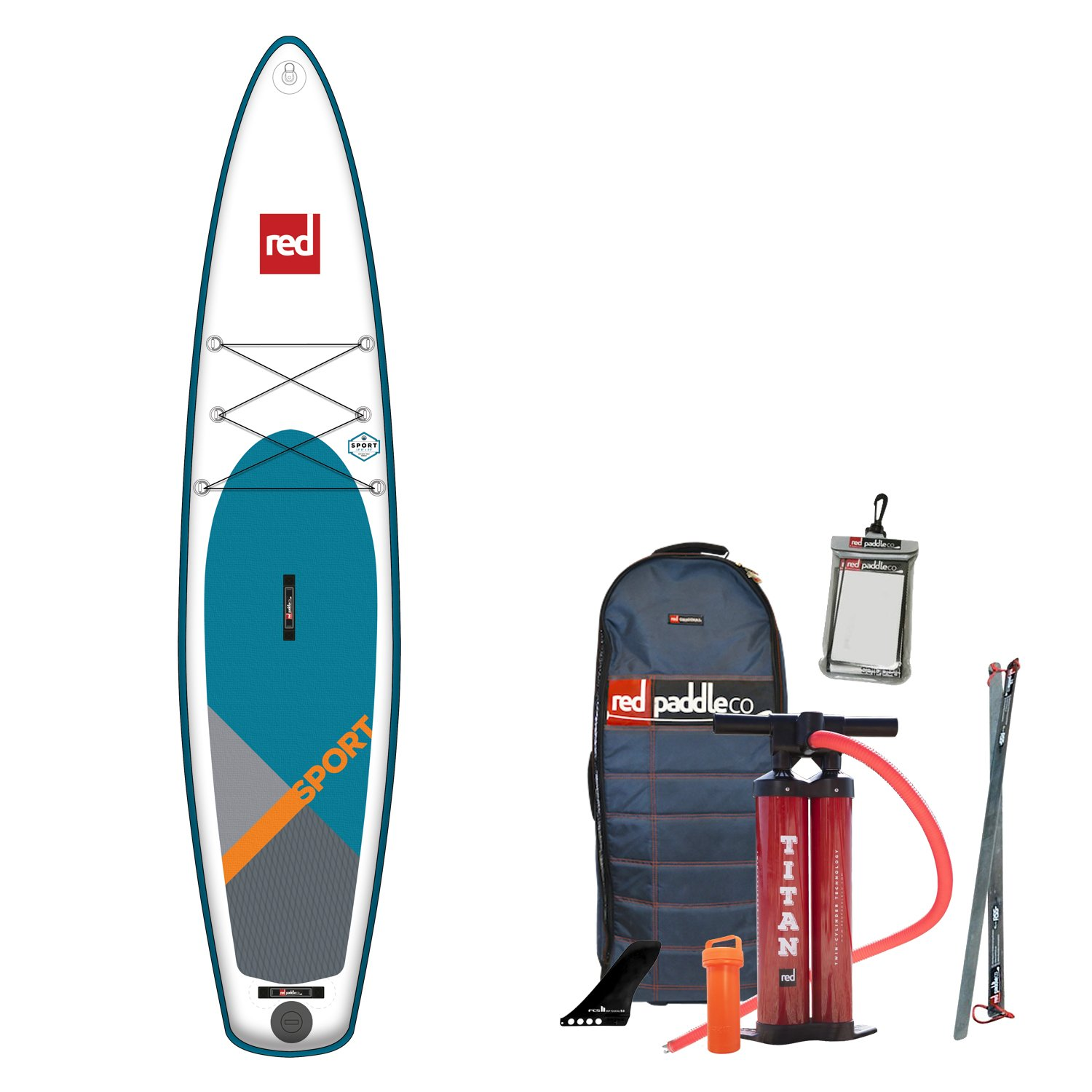 Red Paddle Co 2018 Sport 126 Inflatable Stand Up Paddle Board + Bag, Pump, Paddle & Leash: Amazon.es: Deportes y aire libre
