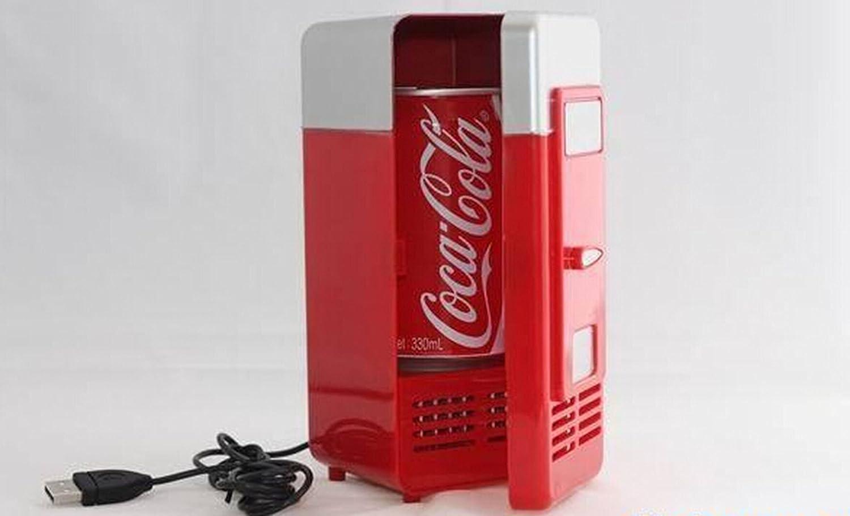 FreshGadgetz Mini Refrigerador USB de Escritorio Mini Frigorífico para bebidas: Amazon.es: Salud y cuidado personal