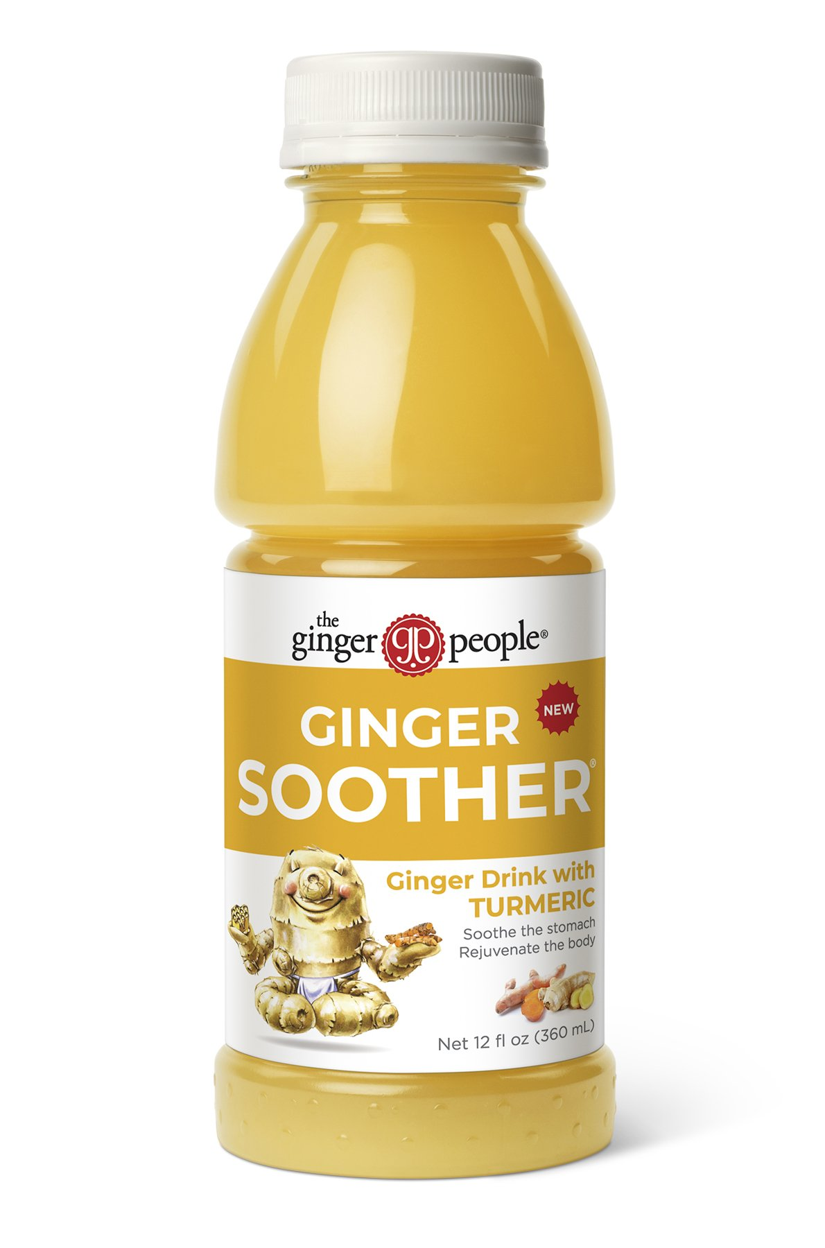 The Ginger People Ginger Soother with Turmeric, 12 Ounce (Pack of 24)