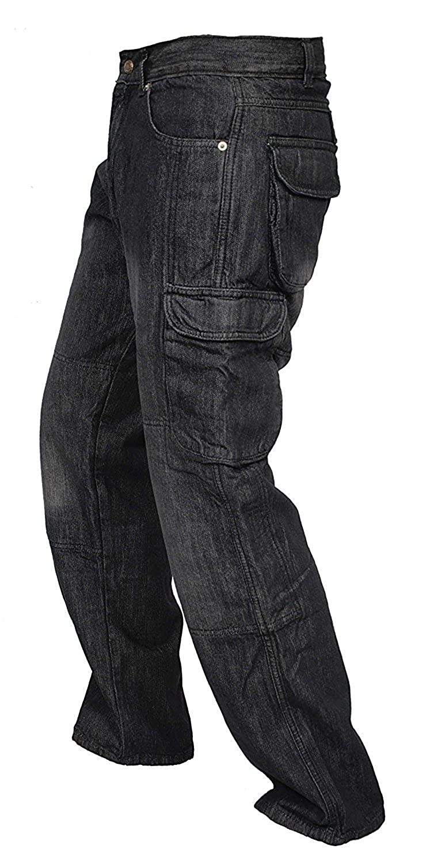 Schwarz Newfacelook Herren Jeans Bikerhose