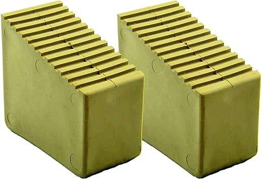 2 unidades. Patas de goma para escaleras de madera, 9-12 peldaños, dimensiones interiores 72 x 23 mm, color arena HB4: Amazon.es: Bricolaje y herramientas