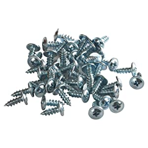 "100 Pack Rok Hardware #8 x 1/2"" Standard Thread Truss Head Screws Wood Work MDF Zinc"