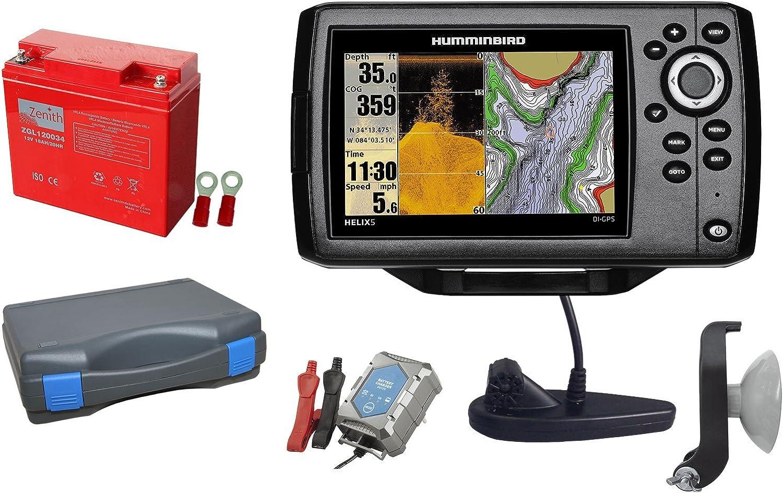 Humminbird Helix 5 Chirp Di GPS G2 Echolot (200/455 + 455/800 kHz) Portabel Juego de 2: Amazon.es: Deportes y aire libre