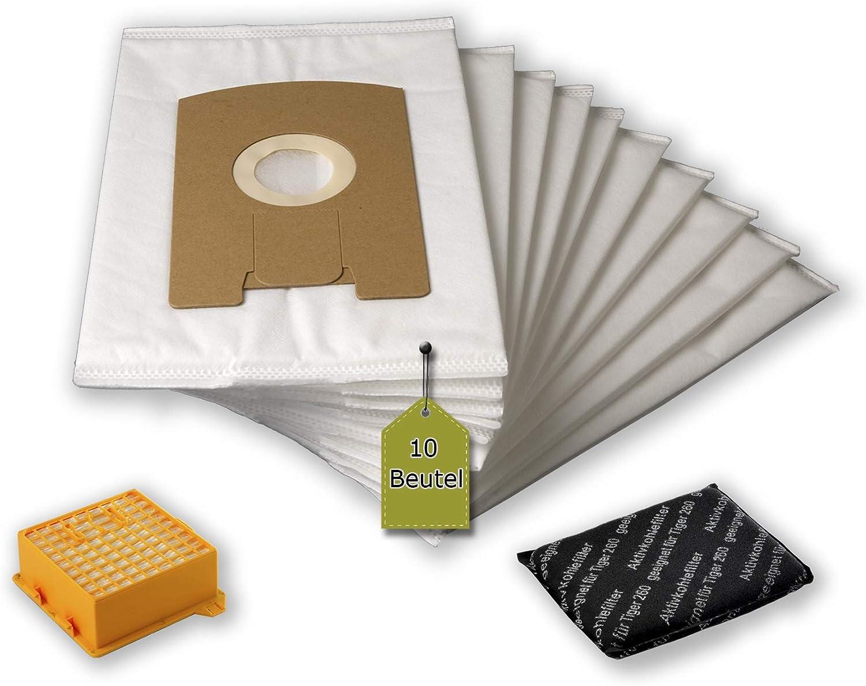 2/Higiene de microfiltro 24/piezas Juego de filtros para Vorwerk Tiger//Kobold VT 260 2/Activo filtro de olores de microfibras/® 20/bolsas de aspiradora