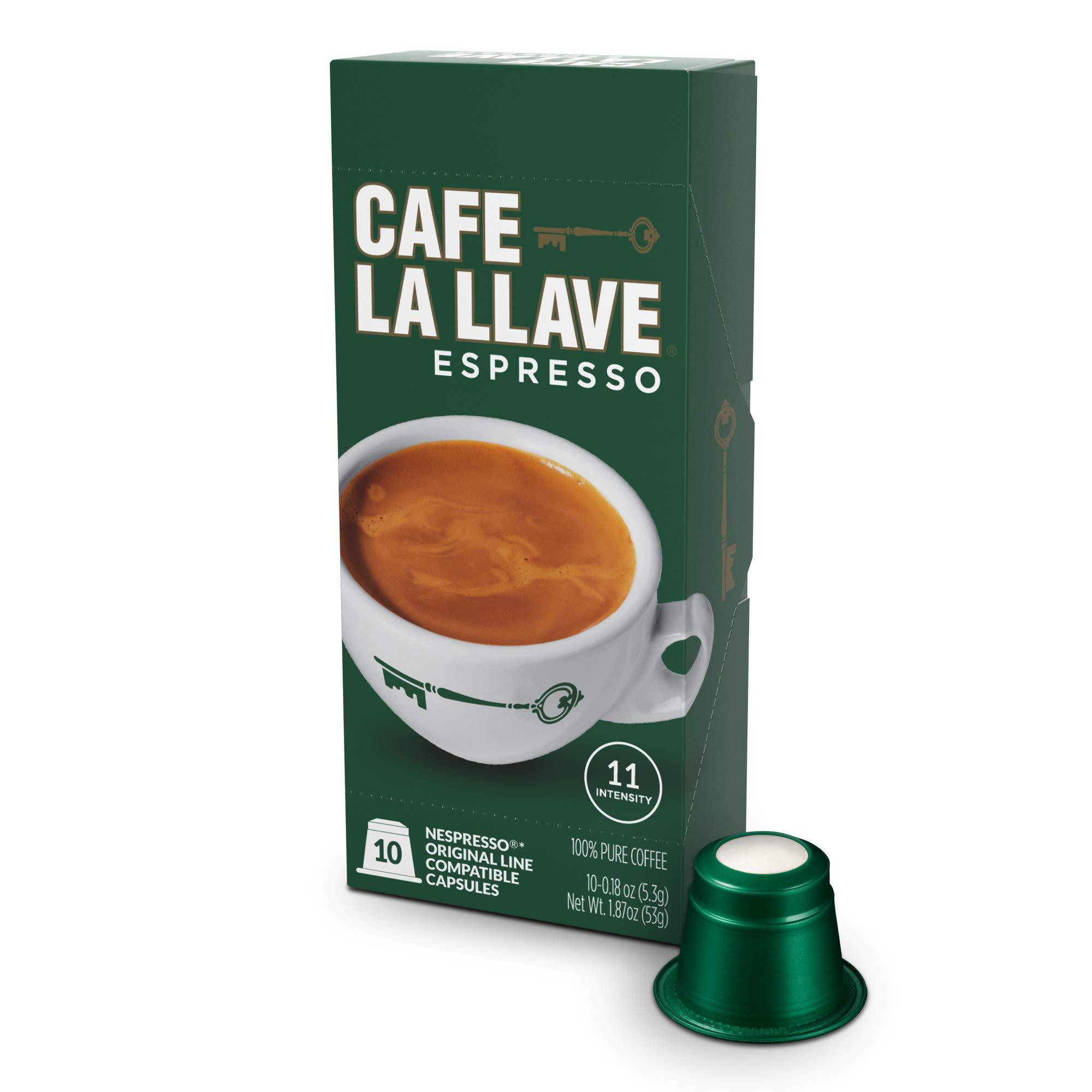 Café La Llave Espresso Capsules, Intensity 11 (80 Pods) Compatible with Nespresso OriginalLine Machines, Single Cup Coffee by Cafe La Llave (Image #7)