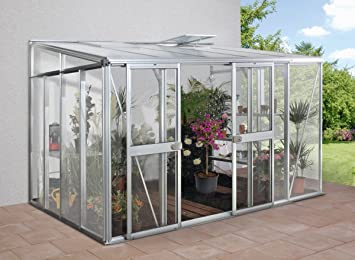 LAMS Serre adossée en verre Helena - 12.20 m²: Amazon.fr: Jardin