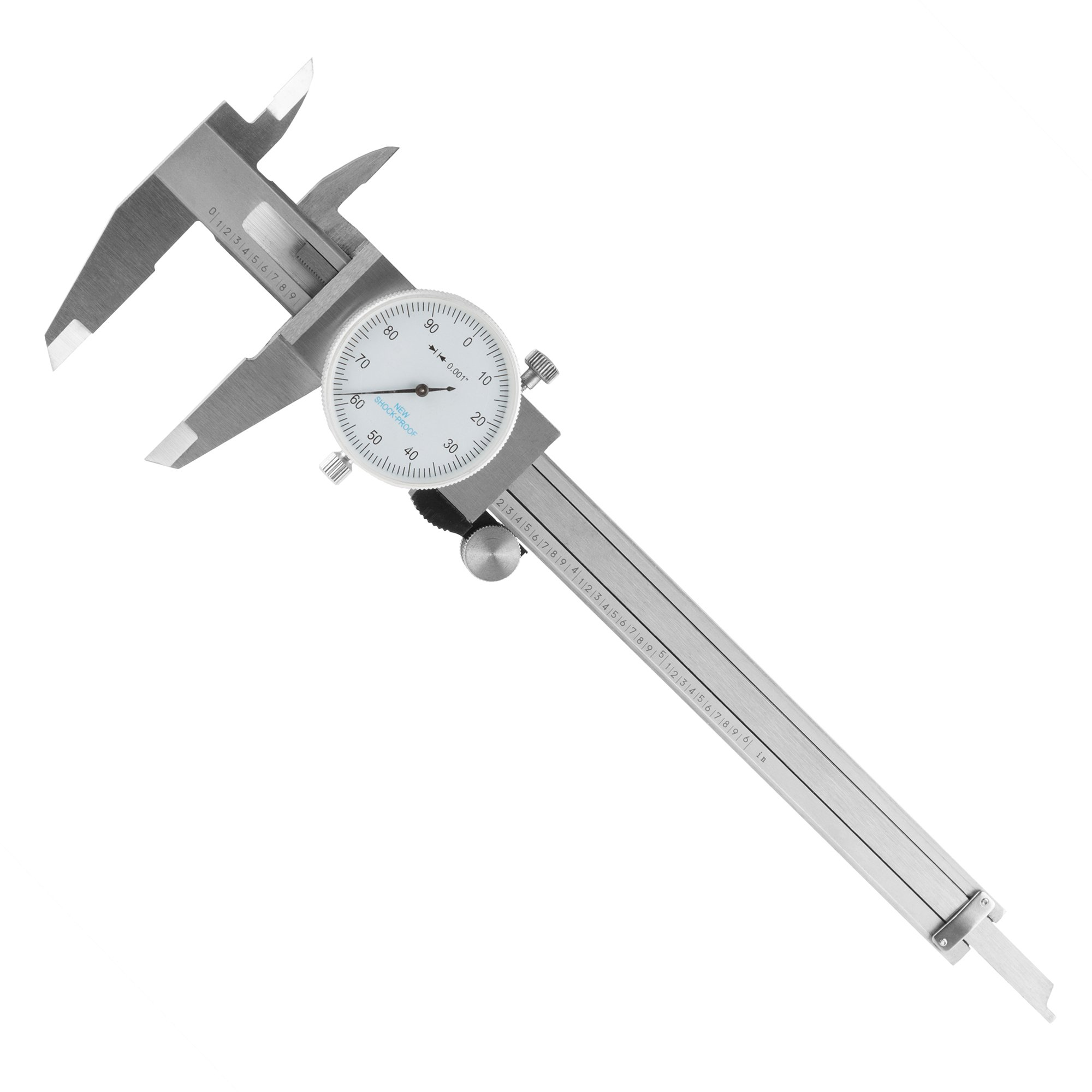Dial Caliper- Stainless Steel and Shock Proof Tool With Plastic Carry Case, 0-6 Inch Measuring Range For Accurate Measurements by Stalwart