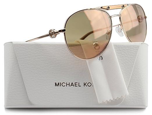 f57be2df579 MK5001 Zanzibar Aviator Sunglasses Rose Gold w Rose Gold Mirror (1003 R1)
