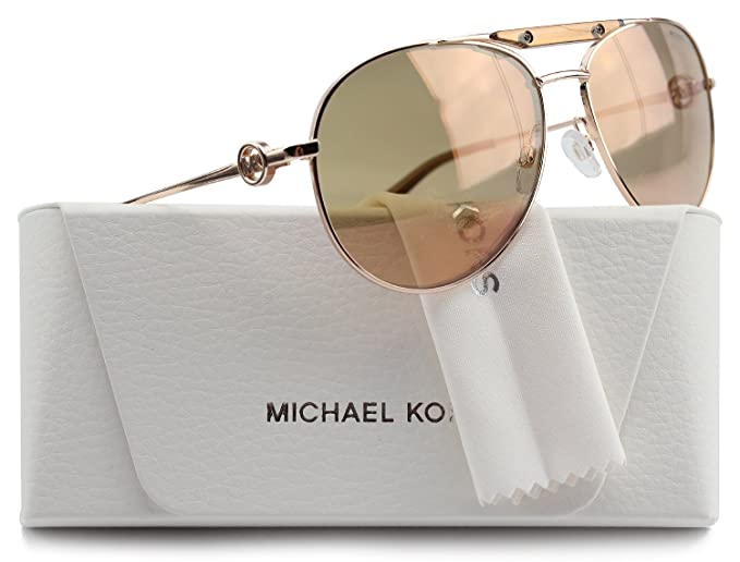 4dbf9671c6 Image Unavailable. Image not available for. Colour  Michael Kors MK5001  Zanzibar Aviator Sunglasses ...