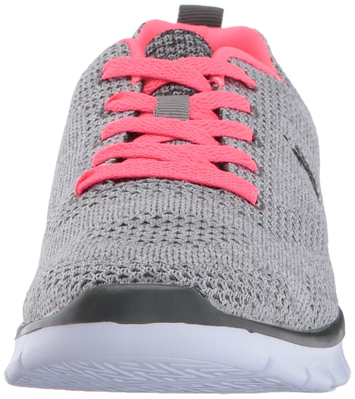 U.S. Polo Assn. Women's Women's Emery-k Fashion Sneaker B01MUYDWMD 7.5 B(M) US|Grey/Neon Coral