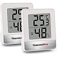 ThermoPro TP49 2 Piezas Mini Termómetro Higrómetro Digital Termohigrómetro de Interior Medidor de Temperatura y Humedad…