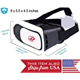 VR Headset, VR Goggles, Virtual Reality Headset VR Glasses Helmet for 3D Video Movies Games for Apple iPhone, Android, Samsung Sony HTC More Smartphones by VRLab