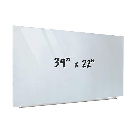 Amazon.com: ECR4Kids - Pizarra blanca de cristal sin marco ...