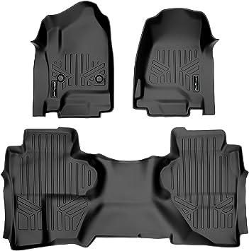 Amazon Com Maxliner Floor Mats 2 Row Liner Set Black For Ld Only 2019 Chevrolet Silverado Gmc Sierra 1500 Ld Double Cab Automotive