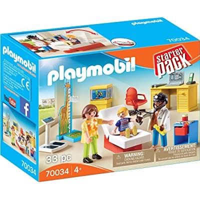 PLAYMOBIL Pediatrician's Office and Figure Pack Playset: Toys & Games