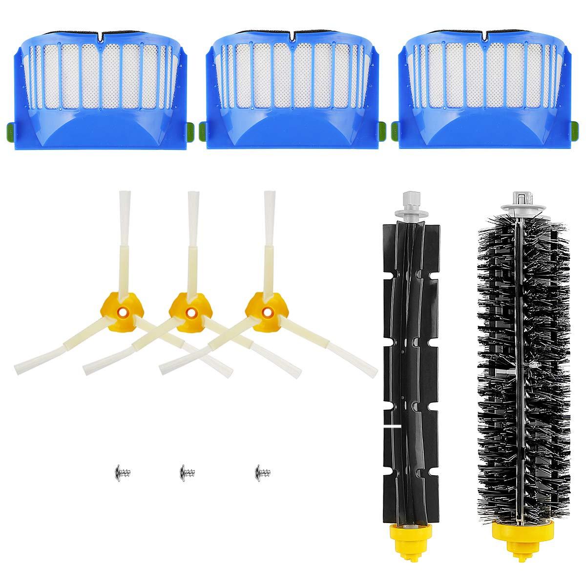 POWER-XWT Reemplace de Accesorios para Irobot Roomba 600 Spare Parts un Conjunto DE 10C