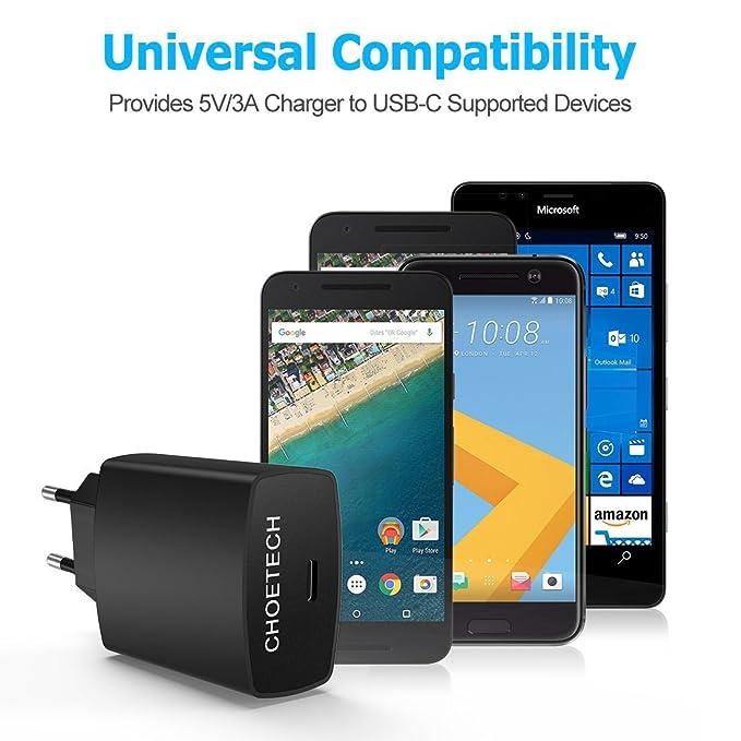 Cargador USB Tipo C CHOETECH Cargador Rapido 5V 3A USB C Pared con Quick Charger para S8,Nintendo Switch,Lumia 950xl/950,Nexus 5x/6p y Todo Cargdor ...