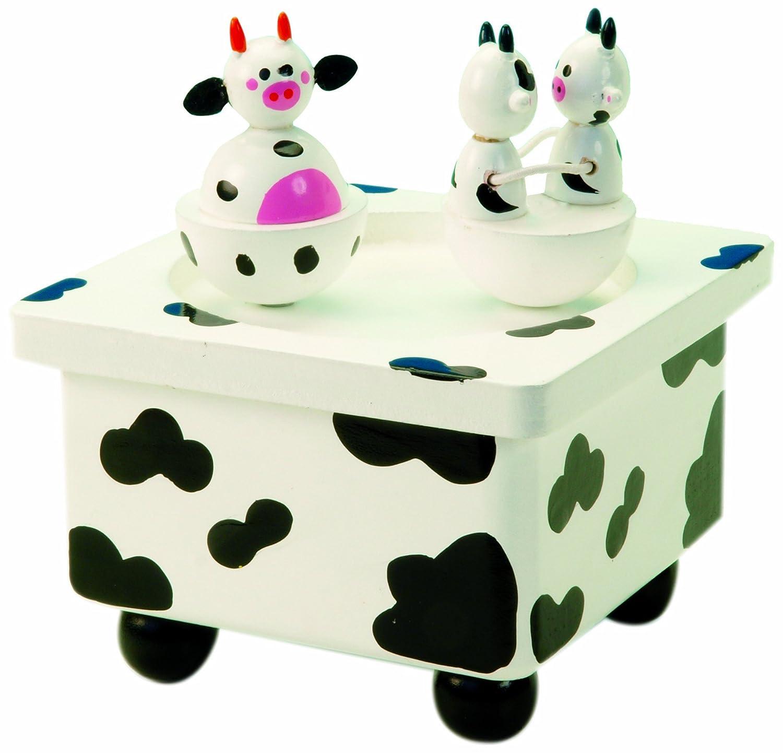 【オープニング大セール】 MusicBox Darling Kingdom 44045 Dancing Cow Dancing Music Box Playing Clementine