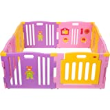 MCC Pink Plastic Baby Playpen with Activity panel 8 Sides