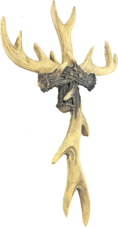 """Bellaa 23110 Antler Wall Cross Rustic Deer Lodge Cabin Decor 14"""""""