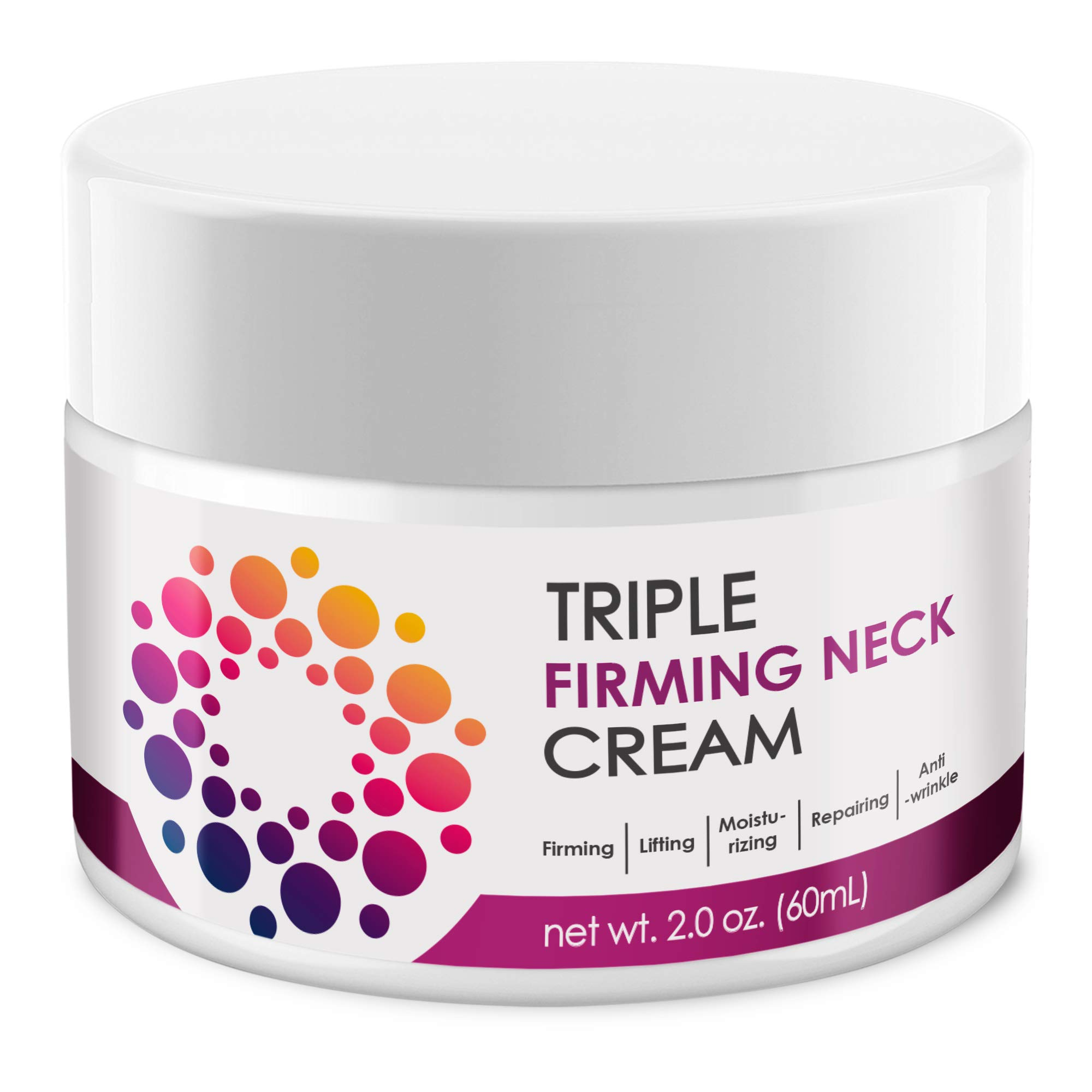 ACTIVSCIENCE Neck Firming Cream, Anti Aging Moisturizer for Neck & Décolleté, Double Chin Reducer, Skin Tightening Cream, Day & Night, For men & women, 2 fl oz.