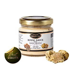 White Truffle Tuber borchii and Tuber MAGNATUM PICO ???? Royal ???? Gourmet Food Sauce Pasta with Cream and Cheese, Ideal for Meat, Grilled Bread, omelets, Pasta, Risotto, Sushi (1 x 80g)