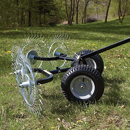 NUOBESTY Leaf Fan Rake with Handle Retractable Gardening Weed Cleaner Rake for Leaf Grass Yard Lawn