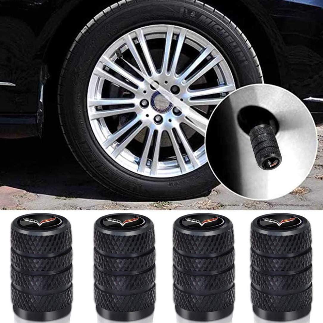 AMG AllRing 4X Tapones de V/álvula de Neum/áticos de Coche de Carbono Titanio Negro Resistente al Polvo Previene la corrosi/ón Aire Resistente a la V/álvula Benz 4 Pcs // Set Negro