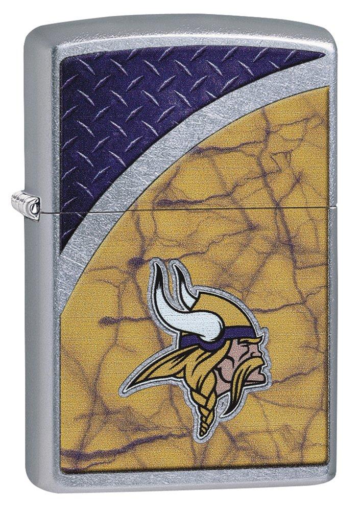 Zippo NFL Minnesota Vikings Street Chrome Pocket Lighter by Zippo