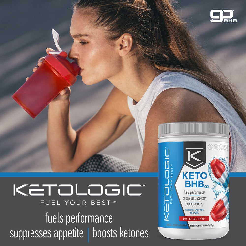 KetoLogic BHB,  Patriot Pop | Ketone Supplement, Suppresses Appetite, Increases Energy, Low Carb, Electrolytes, Beta-Hydroxybutyrate Salts | 60 Servings by Ketologic (Image #7)