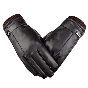 Motorcycle Gloves Gloves Men's Genuine Leather Warm Lined Driving Gloves Men's Accessories