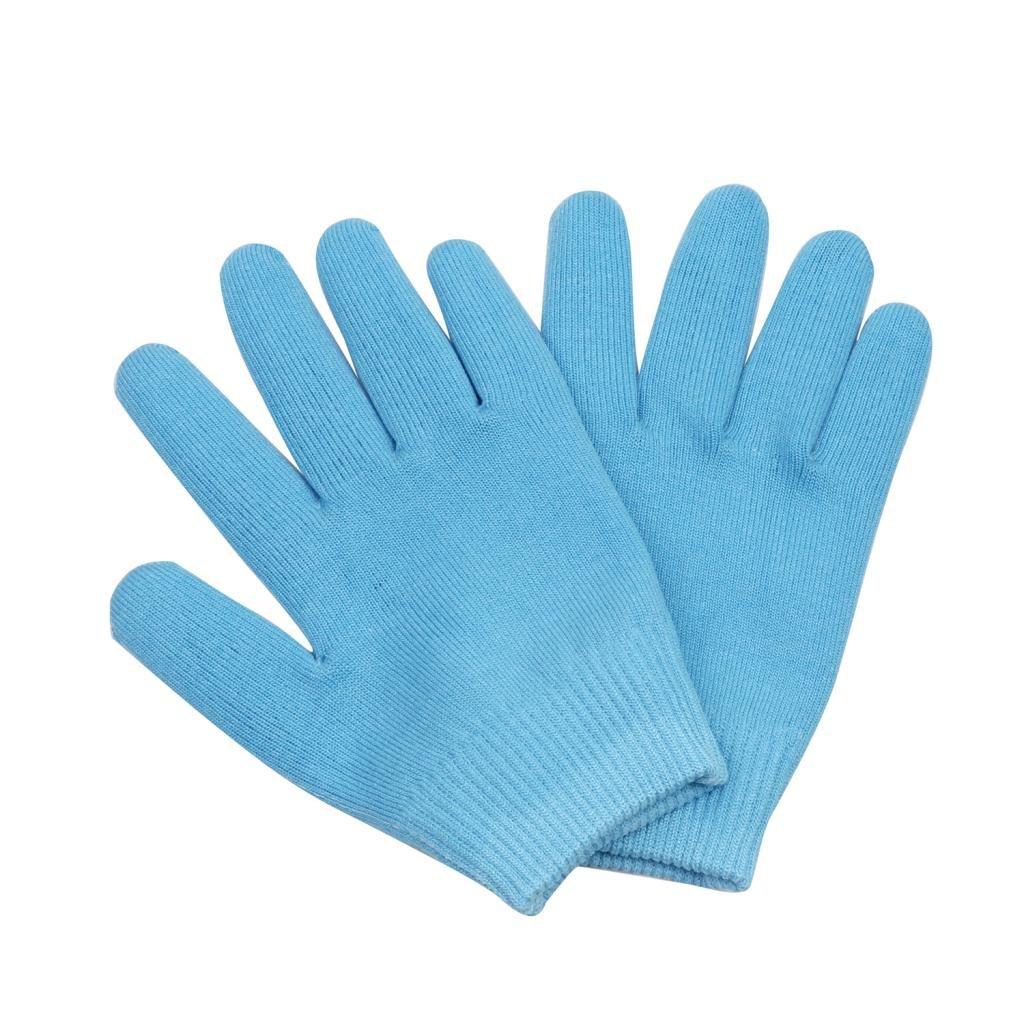 SunniMix Soft Whiten Smooth Hands Moisturize Gel Lined Gloves For Cracked Skin Blue