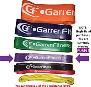 Garren Fitness Pull-Up Assist Bands/Resistance Bands with Premium Strength Layered Rubber - One Band Purchase with 7 Resistance Levels Available