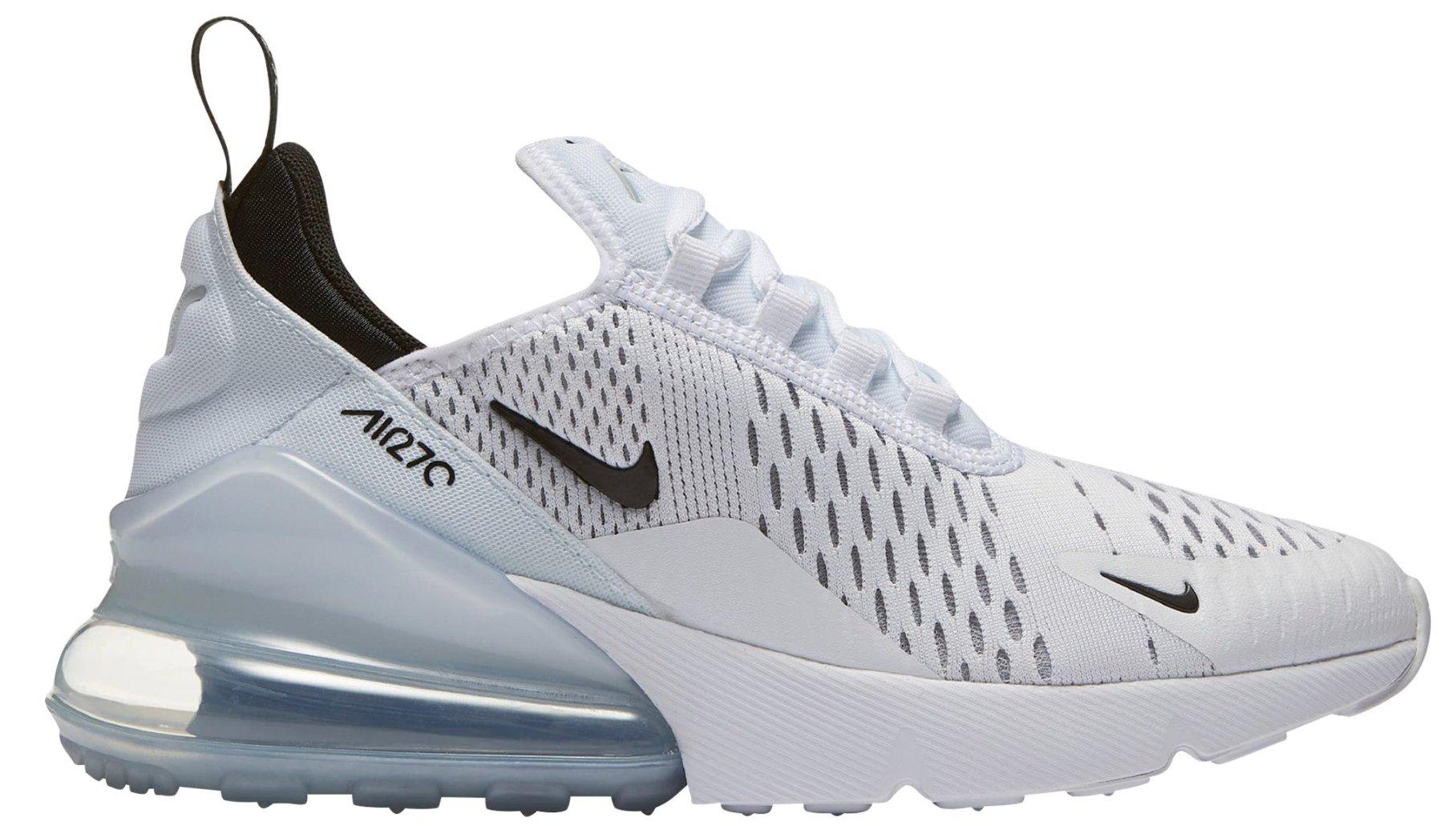 154cbbbe86f8 Galleon - Nike Air Max 270 Big Kids' Running Shoes White/Black-White 943345-100  (4.5 M US)