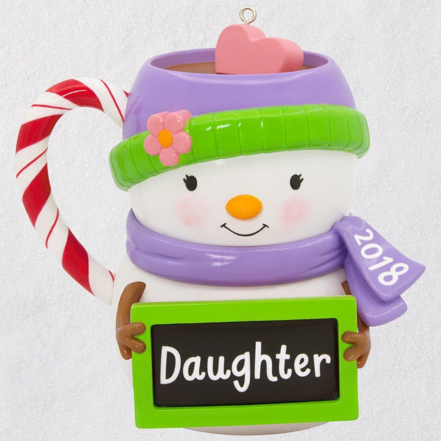 Hallmark Keepsake Christmas Ornament 2018 Year Dated, Daughter Snowman Mug
