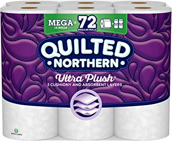 18-Count Quilted Northern Ultra Plush Toilet Paper Mega Roll